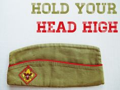 hold your head high vintage boy scout hat by suburbancampsupply $14 #etsy #moonrise kingdom #wes anderson