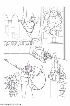 House Colouring Pages, Coloring Book Art, Coloring Pages For Kids, Adult Coloring, Disney Princess Coloring Pages, Disney Princess Colors, Sleeping Beauty Coloring Pages, Christmas Coloring Sheets, Rapunzel