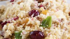 Chickpea-Couscous Salad with Lemon and Fresh Mint | The Splendid Table (leave out olives and raisins for me...)
