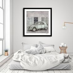 Discover «2CV Retro Car», Numbered Edition Fine Art Print by Andrea Haase - From 20€ - Curioos