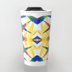 Bird Of Paradise Flash Travel Mug #birdofparadise #bloom #tropical #garden #nature #color #strelitzia #design #pattern #art #travelmug #travel