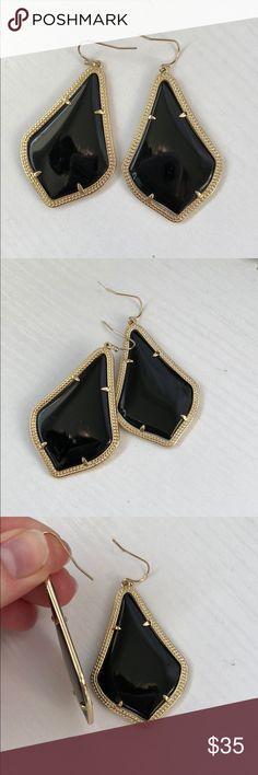 Kendra Scott Alex Earrings Alex Earrings in Black with Gold. Very gently used Kendra Scott Jewelry Earrings