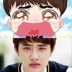 Exo d.o fanart. it's okay that's love exo(fan art,chibi,masc Kaisoo, Kyungsoo, Chanyeol, Exo Ot12, Chanbaek, It's Okay That's Love, Chibi, Exo Fan Art, Kpop Drawings