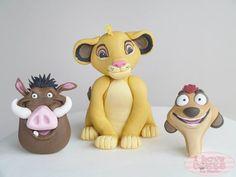 Lion King Party, Lion King Birthday, Disney Cake Toppers, Disney Cakes, Cake Topper Tutorial, Fondant Tutorial, Lion King Cupcakes, Lion Cakes, Baby Simba