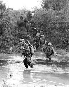 "Vietnam US Marines, near Da Nang, Photo by Larry Burrows"" Vietnam History, Vietnam War Photos, Once A Marine, My War, North Vietnam, Us Marines, American War, Team Photos, Vietnam Veterans"