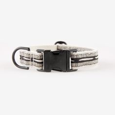 Braveheart Cream & Black Collar - Black Hardware - See Scout Sleep