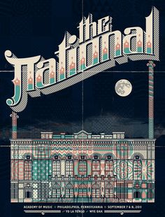 The National @ Academy of Music by Burlesque of North America Gig Promo: The Best Modern Concert Posters — Cher Amis