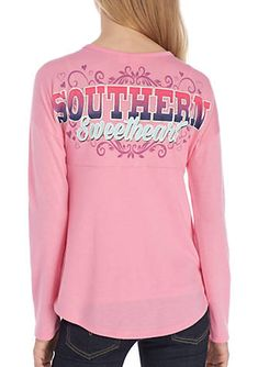 J. Khaki® Girls 7-16 Long Sleeve Southern Sweetheart Elly Top