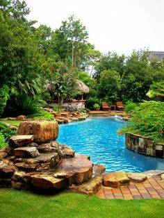 Tropical pool design.