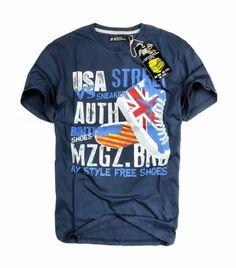 T-Shirt męski MZGZ granatowy