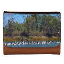 Pelican_Flock_Fishing_Medium_Brown_Leather_Wallet. Wallet For Women