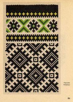 Los ornamentos letones públicos // Кочебина Ольга Tapestry Crochet Patterns, Fair Isle Knitting Patterns, Knitting Charts, Loom Patterns, Craft Patterns, Knitting Stitches, Cross Stitch Charts, Cross Stitch Embroidery, Embroidery Patterns