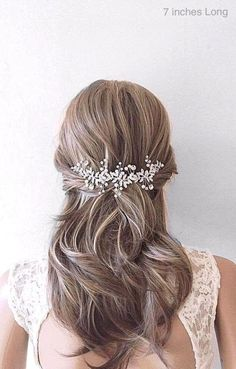 This Pin was discovered by Bridal Star wedding hair accessories. Discover (and save!) your own Pins on Pinterest. Bridal Hair Down, Wedding Hair Down, Bridal Hair Vine, Bridal Veils, Star Wedding, Boho Wedding, Bridal Garters, Wedding Hair Clips, Wedding Hair Pieces