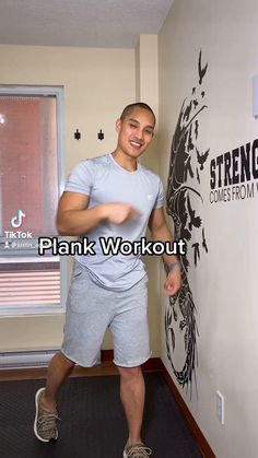Basic Workout, Gym Workout Tips, Fitness Workout For Women, Workout Routines, Fitness Workouts, Workout Videos, At Home Workouts, Wall Workout, Plank Workout