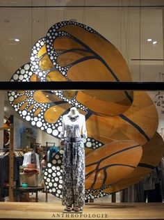 Butterfly window display #visualmerchandising
