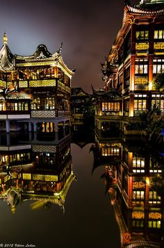 beautiful shot of Shanghai architecture lit up at night. When you study abroad with CAPA International Education whether in Shanghai or elsewhere, it's a great idea to hone your photography skills. Practice at every opportunity. Places Around The World, Oh The Places You'll Go, Places To Travel, Places To Visit, Around The Worlds, Beijing, Wonderful Places, Beautiful Places, Amazing Things