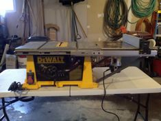 Dewalt dw745 table saw station with router woodworking the shop cool idea to add a router table to existing table saw for small spaces greentooth Image collections