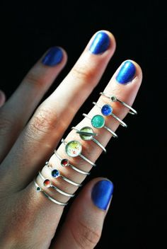 jewels tumblr tumblr girl accessories ring rings and tings galaxy print pale grunge pastel goth pastel grunge science knuckle ring