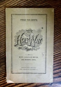 1894 THE HOLY WAY - Rev Isaiah Reid - Iowa Holiness Society - Collectible Vintage Christian Books Religious Collectilbe Used Albert Barnes, Jeremiah 29, Engraved Gifts, Antique Prints, Booklet, Iowa, Handmade Items, Bible, Christian