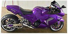 Purple Love, Purple Hues, All Things Purple, Shades Of Purple, Deep Purple, Purple Stuff, Purple Art, Purple Motorcycle, Custom Sport Bikes