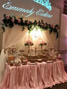 Quinceanera Party Planning – 5 Secrets For Having The Best Mexican Birthday Party Quince Decorations, Quinceanera Decorations, Quinceanera Party, Birthday Decorations, Cake Table Decorations, Wedding Table Setup, Wedding Centerpieces, Wedding Decorations, Wedding Candy Table