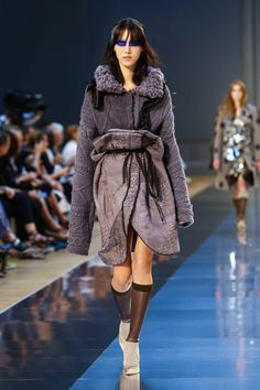 John Galliano for Maison Margiela F/W 2015 Artisanal ,Look 5 ,Model So Ra Choi