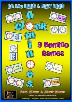 <strong>HOUR and HALF HOUR</strong>  <strong>This FREE download has 1 FREE Clock Domino Game.</strong>  <strong>You get GAME 1 in this free product. This will allow you to evaluate the quality of this resource.</strong>     <strong>9 Clock Domino Games in the full product.</strong>  <strong>The WHOLE CLASS can be playing CLOCK DOMINOES at varying levels of difficulty.</strong>  GREAT for maths centers or group activities.  Playing CLOCK DOMINOES is a FUN way for students to learn about ...