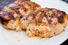 stuffed greek pork chop