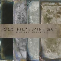 Check out Old Film Mini Set - Fine Art Texture by 2 Lil Owls Studio on Creative Market