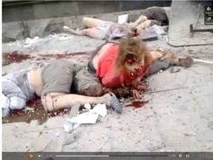 """Bombing of civilians by the neo Nazi, US  backed, Kiev government.  The government in Kyiv has been killing civilians in the east since March. Under the pretext of an imaginary war with Russia, they are pursuing their ultra-reactionary """"national revolution,"""" ..read"""