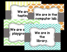 Trendy Classroom Door Sign Where Are We Classroom Door Signs, Classroom Helpers, Classroom Setup, Classroom Organization, Fifth Grade, Third Grade, Teaching Resources, Teaching Ideas, Teaching 5th Grade