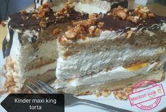 King Torta, Maxi King, Tiramisu, Ale, Cookies, Ethnic Recipes, Food, Caramel, Backen