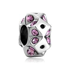 Pack of 10 Beads Wholesale  Crystal Birthstone Holiday Charm European Bead Fits Pandora Bracelet >>> Check this awesome product by going to the link at the image.