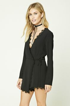 Contemporary Wrap Front Romper