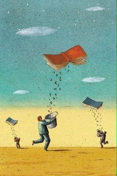 11 Successful and Impressive Cartoon Describing the Benefits of Reading . Reading Wallpaper, Book Art, Meaningful Pictures, Reading Art, Social Art, World Of Books, I Love Books, Surreal Art, Satire