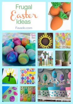 Frugal Easter Ideas Roundup from Favado  #FavadoApp