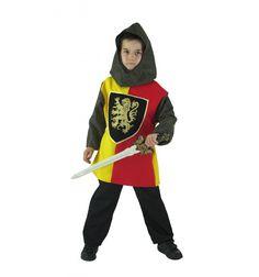 Prend ton épée et part affronter Légendes et Dragons... Déguisement CHEVALIER  comprenant tunique 2 tons manche cote de maille, épée, cagoule, pantalon. Déguisement fabriqué en FRANCE. Présenté sous housse  #lepanacheblanc