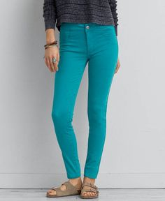 American Eagle Sateen X Extreme Legging, Women's, Teal Lawn