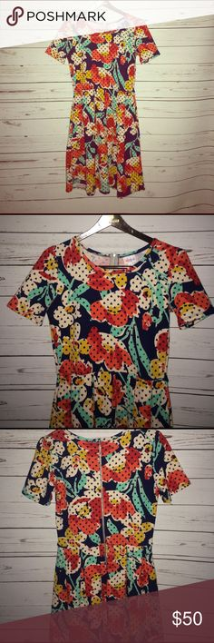 New LuLaRoe Amelia Beautiful Spring floral Amelia. Perfect condition. LuLaRoe Dresses