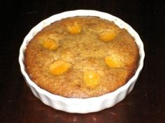 Flourless Apricot Almond Cake for one.  Horrible pic, but recipe sounds good.