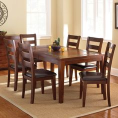 Delightful Davenport 7 piece dining set