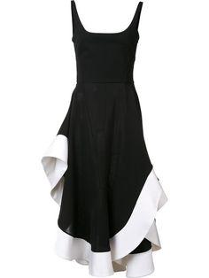 ESTEBAN CORTAZAR contrast trim dress. #estebancortazar #cloth #dress