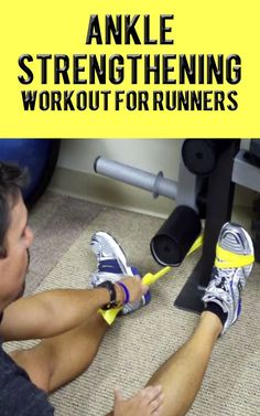 Strong ankles are important for anyone, but especially runners. This workout contains 4 exercises designed to strengthen the muscles around your ankles and help keep you injury-free.   #running #ankle   #exercisetips