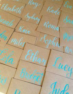 The Ginger Pen Lettering Studio Lettering Design, Hand Lettering, Paper Envelopes, Kraft Paper, Calligraphy, Lettering, Handwriting, Calligraphy Art, Hand Drawn Type