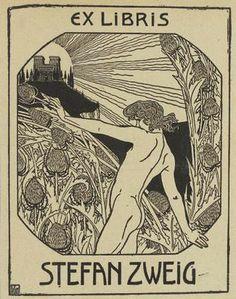 Ex libris Stefan Zweig - Ephraim Moses Lilien - Wikipedia, the free encyclopedia Ex Libris, London Tumblr, Art Nouveau, Stefan Zweig, Jewish Museum, Pop Art, The Draw, Illustrations, Book Images