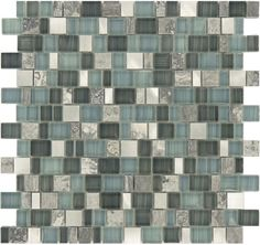"Sheet size: 11 3/4"" x 11 3/4""     Tile Size: 3/8"" x 7/8"", 5/8"" x 7/8"" & 1"" x 7/8""     Tiles per sheet: 224     Tile thickness: 1/4"" nominal Grout Joints: 1/8"" Sheet Mount: Mesh Backed Sold by the sheet"