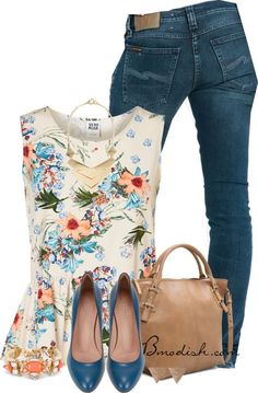 Vestir con un top con Flores - Outfits 15