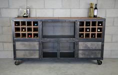 Liquor Cabinet/ Bar - Vintage Industrial, Urban-modern Design. Reclaimed Wood…