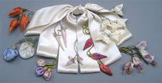Candace Kling - Classes and Lectures Fabric Flowers, Paper Flowers, Flower Making, Bow Making, French Flowers, Sewing Baskets, Ribbon Work, Silk Ribbon Embroidery, How To Make Bows