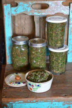Fermented green chile salsa